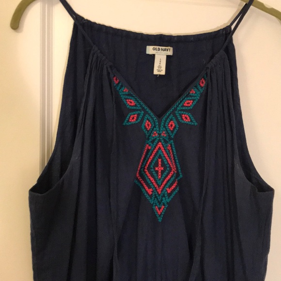 Old Navy Dresses & Skirts - OLD NAVY navy blue tribal maxi